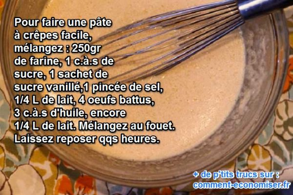 comment faire des crepes