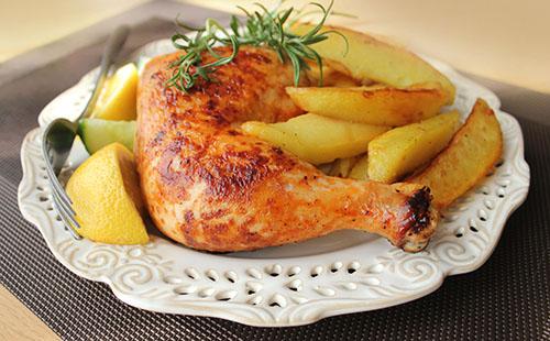 cuisse de poulet au four