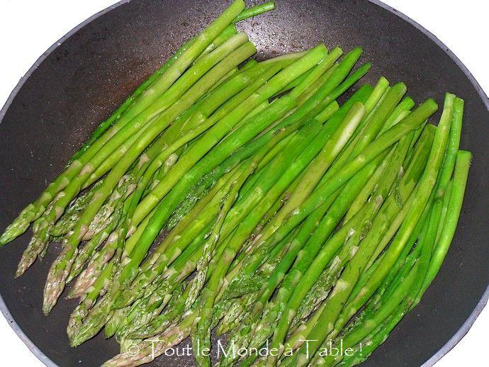 cuisson des asperges