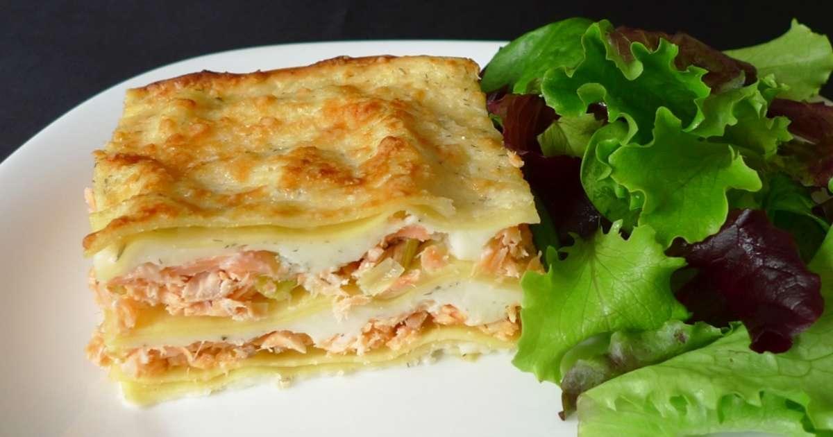 lasagne saumon