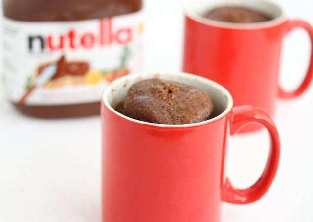 mug cake nutella