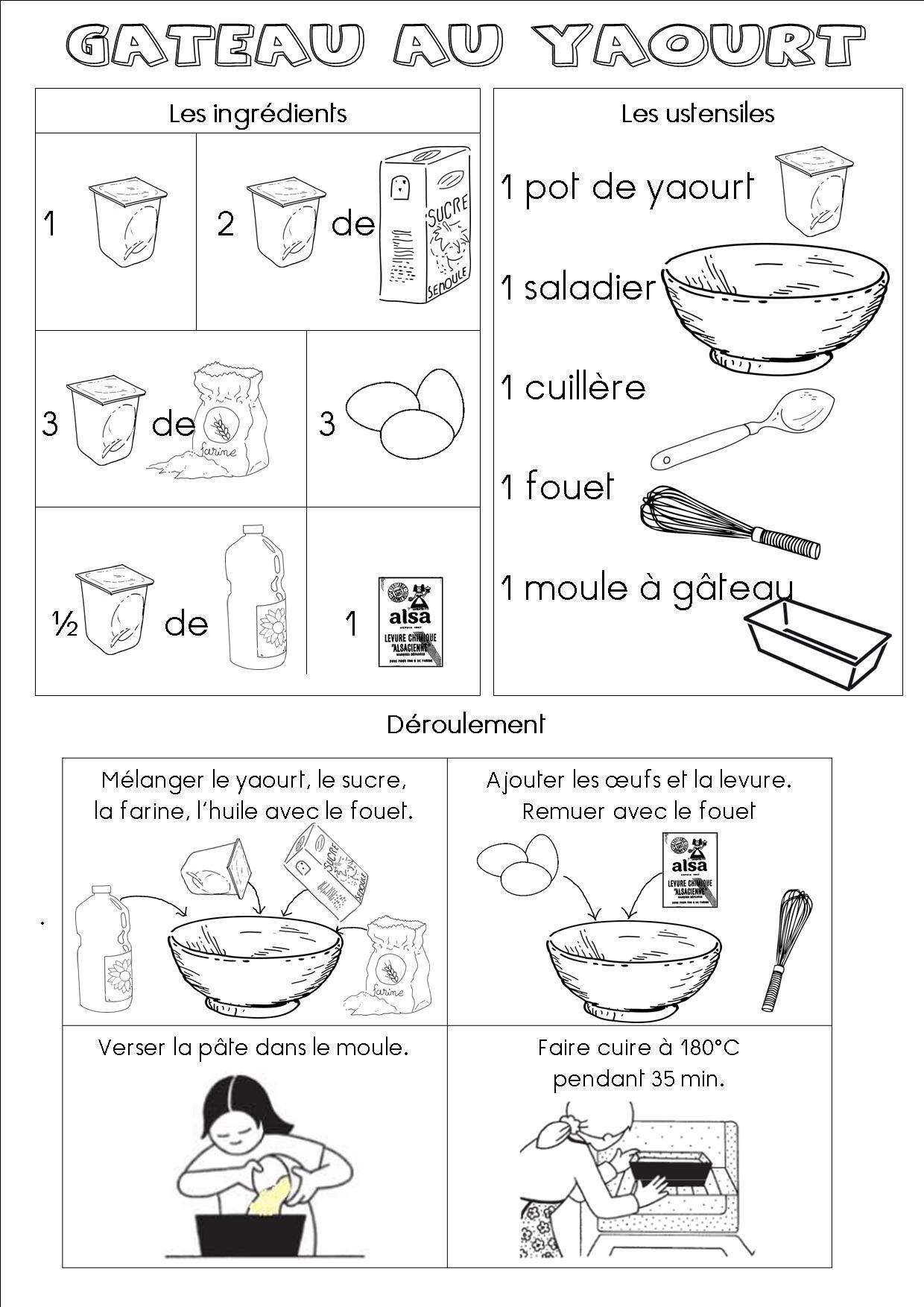 recette gateau yaourt