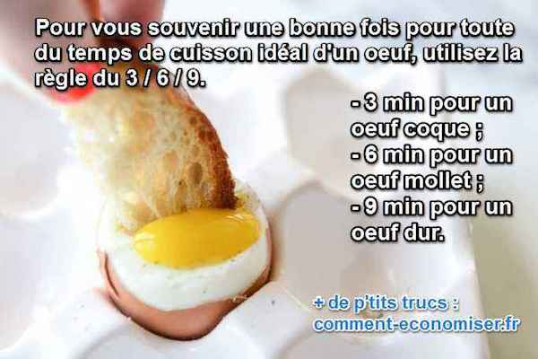 temps cuisson oeuf dur